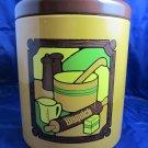 vintage Bisquick metal cookie jar General Mills advertising tin by Ransburg 1973