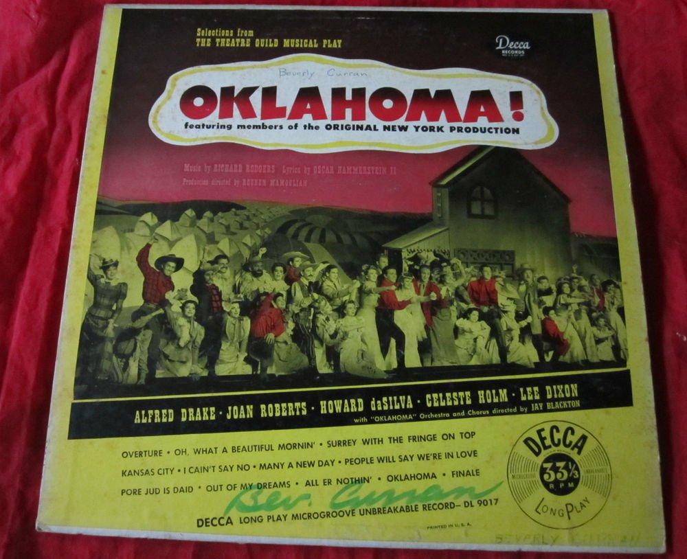 Oklahoma vintage record/vinyl/LP~oringal NY Production~Decca Records~freeUS ship