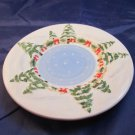 "Yankee Candle Company Christmas plate (about 5"" diameter)"