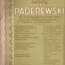 Ignace Jan Paderewski~piano~sheet music~Caprice Burlesque~1901~FREE US SHIP