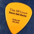 Tim Mcgraw Dance Hal Doctor Orange Guitar Pick Dunlop Delrin Darron Smith
