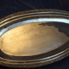 vintage fish platter silver metal w/ HA in a crescent with star & Arabic letters