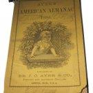 1884 Ayer's American Almanac Dr JC Ayer Lowell MA Massachusetts antique ephemera