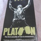 Platoon VHS video tape~Charlie Sheen movie/film~FREE US SHIPPING