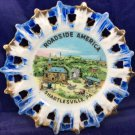 Roadside America Shartlesville PA Souvenir Plate Dish Vintage Pennsylvania