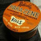 vintage advertising tin Reliable Para-Zene Moth Reliable Chemical Co Passaic NJ