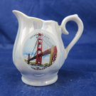 vintage Creamer Pitcher souvenir San Francisco Golden Gate Bridge lusterware
