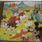 1962 Walt Disney Productions THE MOUSE FACTORY Puzzle~Mickey Donald Goofy
