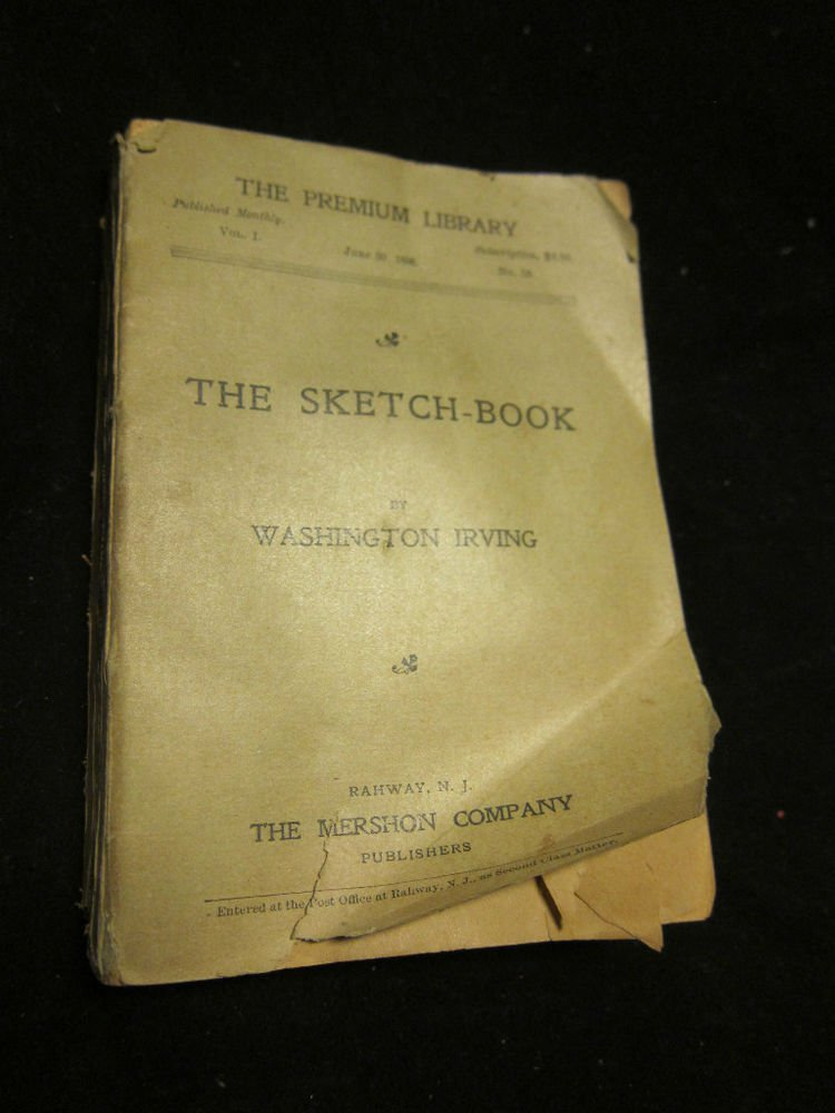 The Sketch Book by Washington Irving~The Premium Library 1898~FREE US SHIPPING