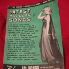 January 1946 Latest Popular Songs Magazine with Merelyn Maxwell on the cover