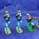 5 Home Cast US Civil War Union Toy Soldiers Metal Military Miniatures