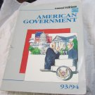 American Government 93/94 (1993 Paperback book)~Political Science~good condition