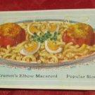 A.C. Krumm & Son Macaroni Co. Philadelphia PA recipe card~kitchen food ephemera