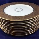 Playwright Maxwell Anderson Dishes Plates marked Park Inn Hotel gold antique