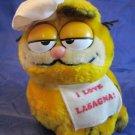 vintage Garfield Chef Hat plush I love Lasagna stuffed animal 1981 Dakin