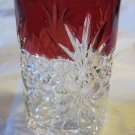 Ruby Flash Glass~Royal Crystal tumbler ~Free US Shipping
