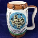 Vintage Plautco Inc Horse Mug Made In Japan Ceramic Cup Texas Good Luck Souvenir