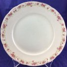 """Mercer Pottery Company 9.5"""" Plate Dish Semi-vitreous Off White Pink Flowers"""