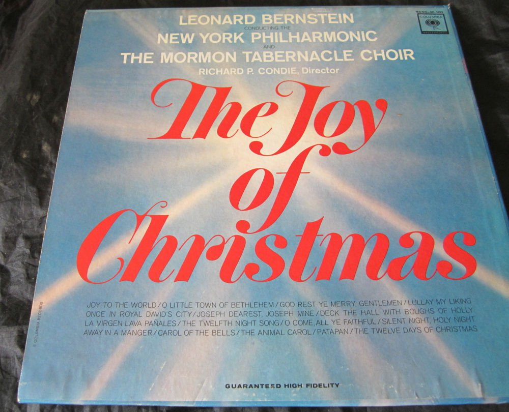 The Joy of Christmas record~Leonard Bernstein~NY Philharmonic~Mormon Tabernacle