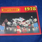 1978 Matchbox Catalogue Lesney Products Catalog