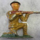 B12 Barclay Toy Soldier~kneeling Sniper firing (short stride)~FREE US SHIP