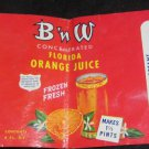 vintage B n W Florida Orange Juice label BNW Ba and W Canning Company Groveland