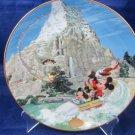 Disneyland 40th Anniversary Bradford Exchange Plate Matterhorn
