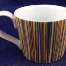 2008 Starbucks Coffee Mug 13 Oz Ounces Rainbow Stripes Striped