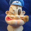 1959 Popeye plastic rubber doll head from Gund hand puppet