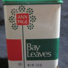 Ann Page Bay Leaves spice metal tin~1976 A&P Supermarket~FREE US SHIPPING