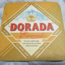 Dorada Beer Cerveza coaster/mat~Tenerife, Canary Islands, Spain~FREE US SHIP