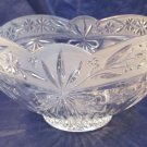 "Mikasa glass bowl 9"" diameter & 5.25"" tall"