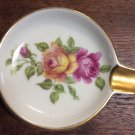 Mitterteich Bavaria Germany 62 Single Petite Ashtray Cigarette Pink Yellow Rose