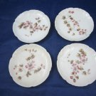 CH Field Haviland Charles CFH GDM Butter plates passion flower blossoms/vines