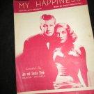 My Happiness sheet music~recorded by Jon and Sondra Steele~Peterson & Bergantine