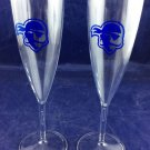 Seton Hall University Chamapgne Flutes Pair Two NCAA Big East Basketball