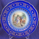 "JKW Western Germany 1930 10.75"" Plate Dish Courting Couple Love Story"