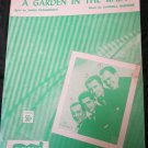 A Garden in the Rain sheet music recorded by The Four Aces~FREE US SHIPPING