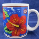 1997 Hilo Hattie Mug Island Heritage Hawaii Souvenir red flower