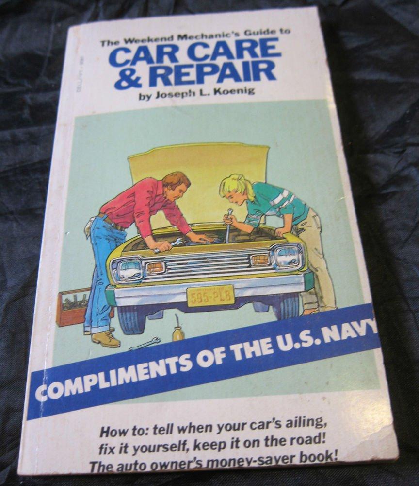 1979 US Navy Recruiting Promo item~Car Care & Repair Book~Naval Recruitment