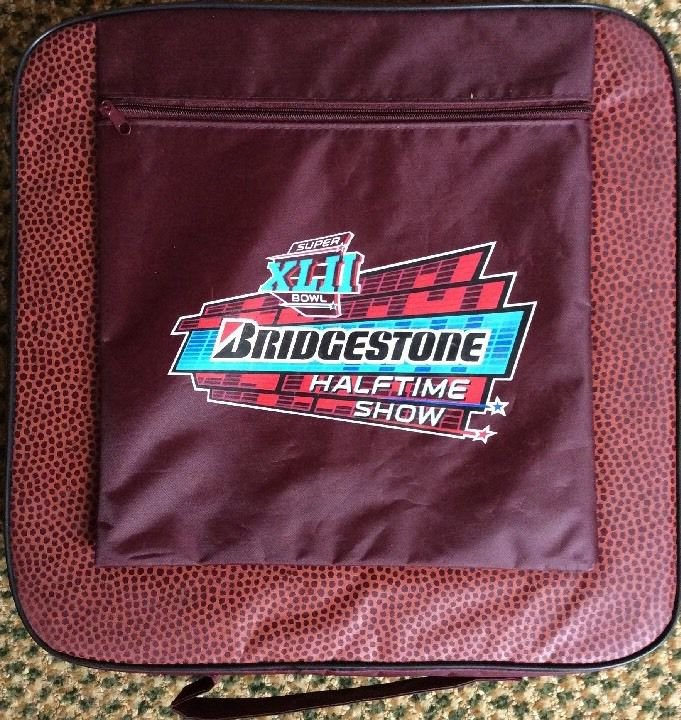Super Bowl XLII 2008 Arizona Bridgestone Halftime Show Seat Cushion