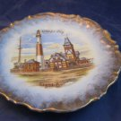 Atlantic City NJ Absecon Lighthouse souvenir plate from Karlsbad Germany c 1900