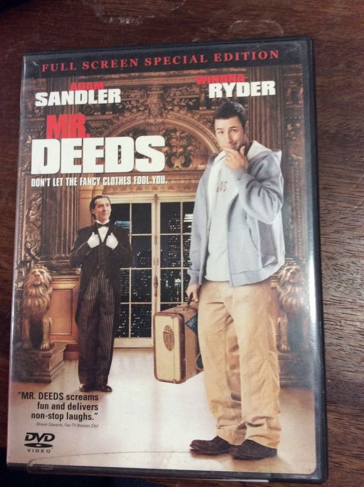 Mr. Deeds DVD Full Screen Special Edition with Adam Sandler and Winona Ryder