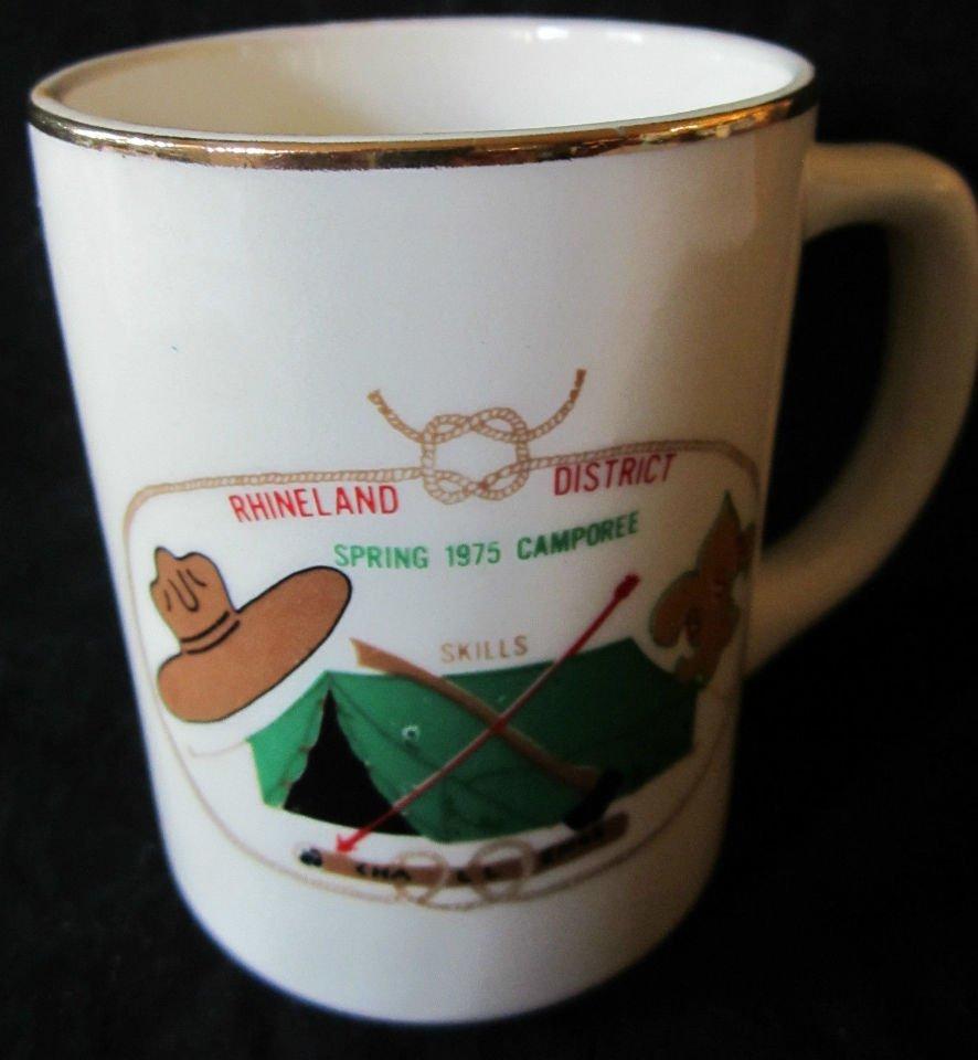 1975 Boy Scout Mug Rhineland District Spring 1975 Camporee Skills Challenge BSA