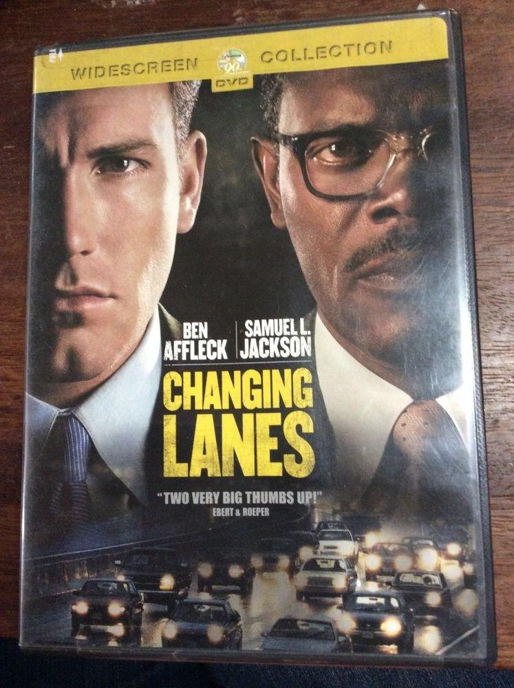 Changing Lanes DVD Ben Affleck & Samuel L Jackson widescreen collection