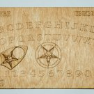 "Laser Engraved 5"" X 8"" Wooden Ouija Style Board with Pentagram"