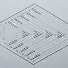 "1/8"" Clear Acrylic Laser Cut Quilting Template - 60 Degree Diamond Tool 1.5-4"""