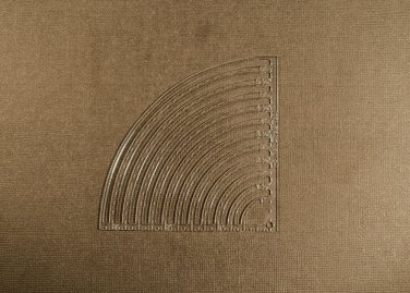 """1/8"""" Clear Acrylic Laser Cut Quilting Template - 1-6 inch Quarter Circle tool"""