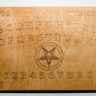 "Laser Engraved 11"" X 7"" Wooden Ouija style Board with Pentagram"