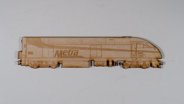Metra Mp36 Laser engraved and cut Wooden Magnet